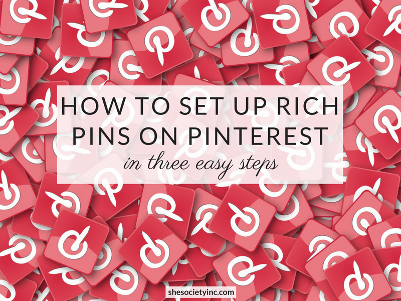 How to Set Up Rich Pins on Pinterest in Three Easy Steps